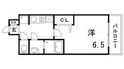 プレサンスTHE神戸[3階]の間取り