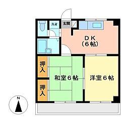 神奈川県川崎市多摩区宿河原6丁目の賃貸マンションの間取り