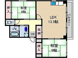 メゾンI.S.Y[3階]の間取り