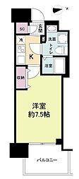 セレニテ谷九プリエ 4階1Kの間取り