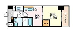 メイボーテセラ 6階1DKの間取り