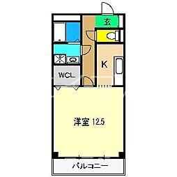 ブルージュ・TAKASONE[1階]の間取り