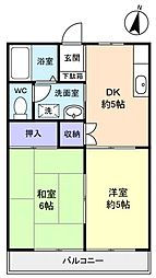 いわいコーポ[2階]の間取り