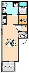 兵庫県神戸市東灘区本山中町3丁目の賃貸アパートの間取り