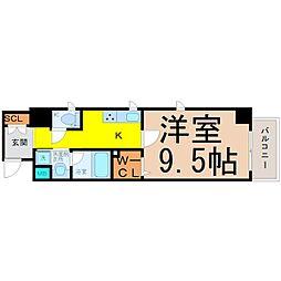 愛知県名古屋市中村区則武2の賃貸マンションの間取り