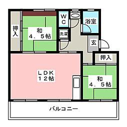 長丘リーゼントコーポレーションD棟[4階]の間取り
