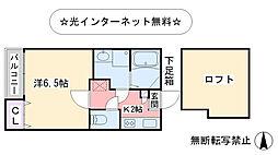 福岡県福岡市東区馬出6丁目の賃貸アパートの間取り