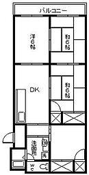 石川コーポ1[12号室]の間取り