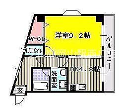 ハートフル医大南[4階]の間取り