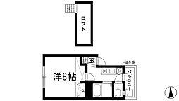 ぷるみえーる栄町[3階]の間取り