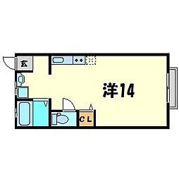 兵庫県尼崎市西立花町4丁目の賃貸マンションの間取り