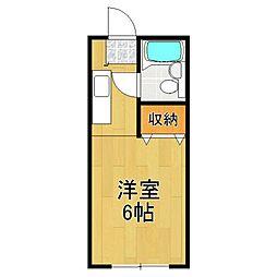 カーサ中田 2号棟[208号室]の間取り