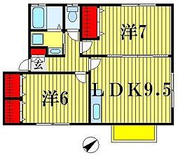 ニューヒルズプレイン[2階]の間取り