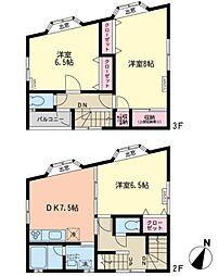 [テラスハウス] 神奈川県川崎市多摩区中野島2丁目 の賃貸【/】の間取り