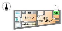 ボナ新町[6階]の間取り