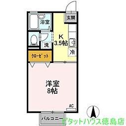 セジュール中吉野[2階]の間取り