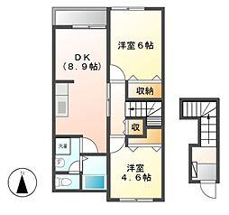アーネストI[2階]の間取り