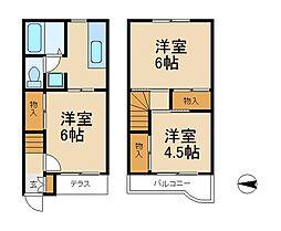 ベルデ吉田A棟[1階]の間取り