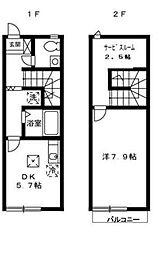 [テラスハウス] 大阪府堺市堺区香ヶ丘町3丁 の賃貸【/】の間取り