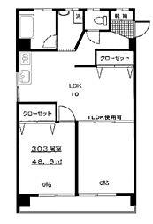 東京都世田谷区桜丘5丁目の賃貸マンションの間取り