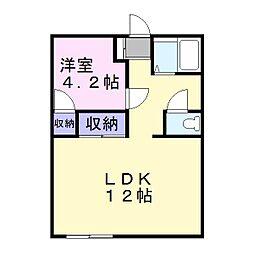 兵庫県姫路市御立中8丁目の賃貸アパートの間取り