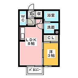 ルミエール和田橋[2階]の間取り