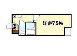 ジョリーフローラ[9階]の間取り