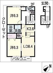C.R.Court[2階]の間取り