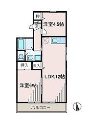 メゾンヴェール2[2階]の間取り