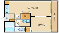 第2コーポ平野[2階]の間取り