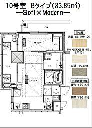 ノルデンタワー江坂プレミアム 10階1LDKの間取り