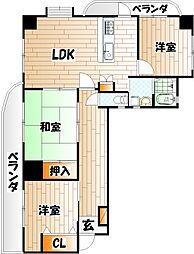ファミリーハウス勝山[9階]の間取り