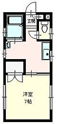 コーポR2階Fの間取り画像