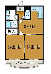 クレール大澤[2階]の間取り