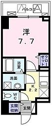 JR山陽本線 福山駅 徒歩5分の賃貸マンション 9階1Kの間取り