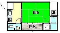 大阪屋荘[2-D号室]の間取り