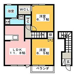ルフォンE[2階]の間取り