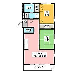 K・Kマンション[3階]の間取り