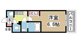アドバンス神戸プリンスパーク[702号室]の間取り