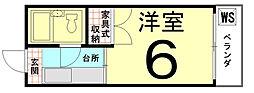 ロイヤルハイツ上賀茂[201号室]の間取り