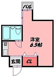 JPアパートメント守口V 3階ワンルームの間取り