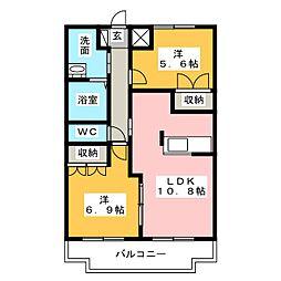 La'pin[2階]の間取り