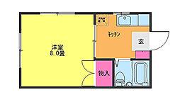 ハイネス福田[106号室]の間取り