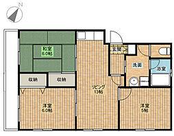第2原田マンション[1階]の間取り