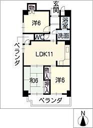 パークアベニュー[5階]の間取り