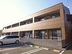 岡山県倉敷市中畝5丁目の賃貸アパートの外観