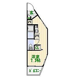 東京都足立区東和5丁目の賃貸アパートの間取り