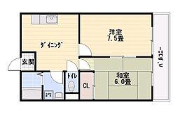 プリベイル西神戸[2階]の間取り