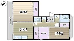 六義園サマリアマンション[10F号室]の間取り