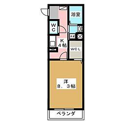 ガノス A棟[2階]の間取り